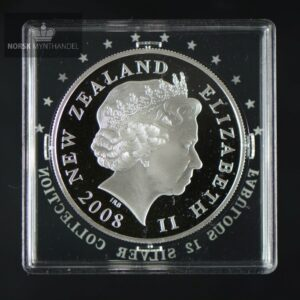 "2008 New Zealand ""Hamilton Frog"" Sølv Proof ""Fabulous 12"""