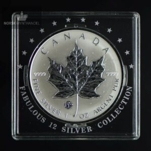 "2008 Canadian Silver Maple Leaf 1 oz F12 Privy ""Fabulous 12"""