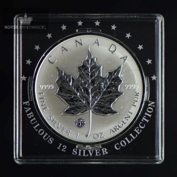 2008 Canadian Silver Maple Leaf 1 oz F12 Privy