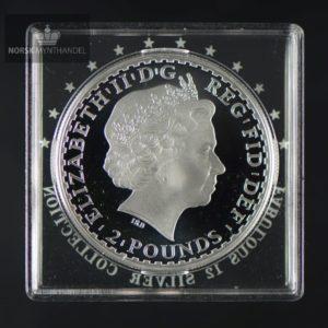 """2008 Storbritannia 1 oz Sølv Britannia Proof """"Fabulous 12"""""""