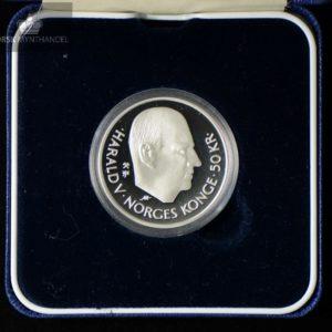 1995 50 kroner FN 50 år i Sølv Proof