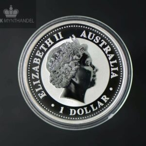 "2001 Australia 1 oz Sølv ""Year of the Snake"" BU"