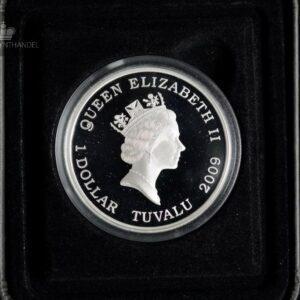 "2009 Tuvalu 1 oz Sølv ""Famous Battles in History - Thermopylae"""