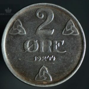 1944 2 Øre Kv 1+ Jern