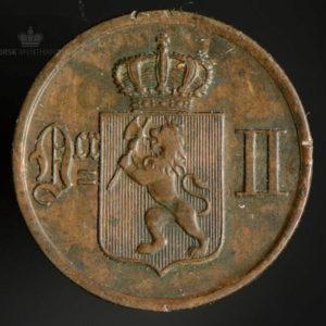 1876 1 Øre Kv 1+ Kanthakk/smuss