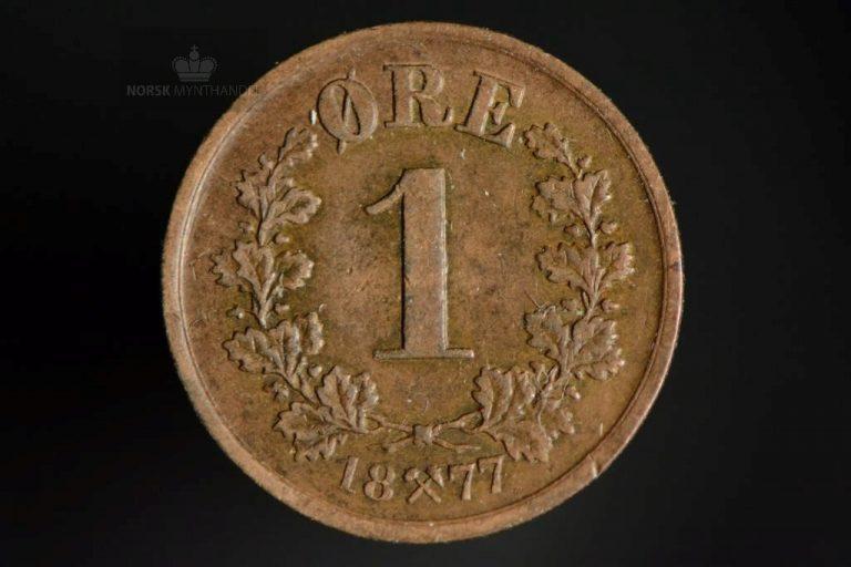 1877 1 Øre Kv 1/1+