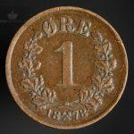 1878 1 Øre Kv 1/1+