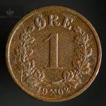 1902 1 Øre Kv 1/1+