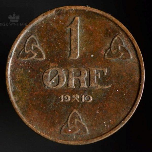1910 1 Øre Kv 1