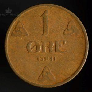 1911 1 Øre Kv 1-