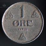 1921 1 Øre Kv 1 Jern