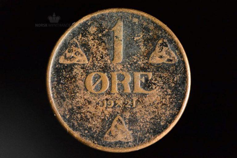 1921 1 Øre Kv 1-