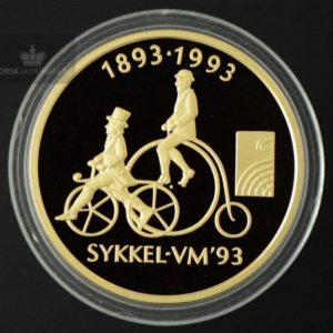 1993 Sykkel VM Komplett Myntsett Gull/Sølv Proof