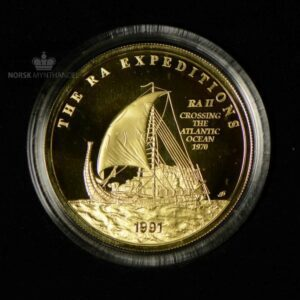 "1991 Samoa 100 Tala ""Ra Expedition"" Gullmynt Proof"