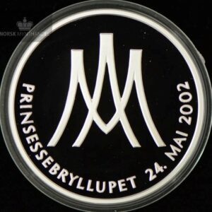 "2002 Prinsessebryllupet Sølvmedalje ""Märtha og Ari"" Proof"