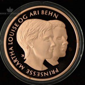 "2002 Prinsessebryllupet Kobbermedalje ""Märtha og Ari"" Proof ANM"