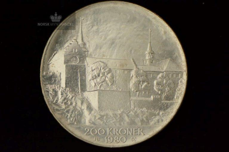 1980 200 kroner Sølvmynt Frigjøringen 35 år Anm.