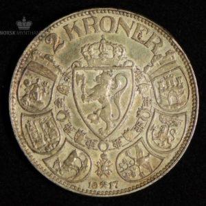 2 Kroner 1917 Kv 1+ #5