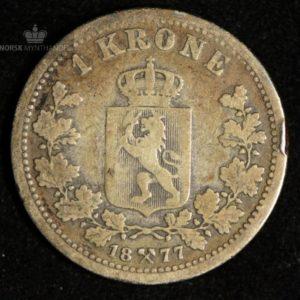 1877 1 Krone Kv 1- #3