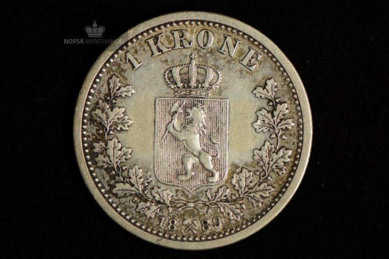 1889 1 Krone Kv 1+