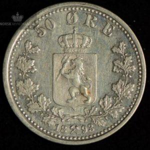 1893 50 Øre Kv 1+ #1
