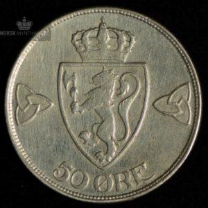 1918 50 Øre Kv 1