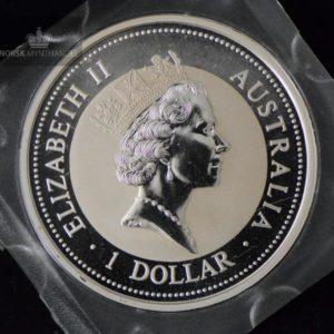 1995 Australia 1 oz Sølv Kookaburra BU Square Capsule