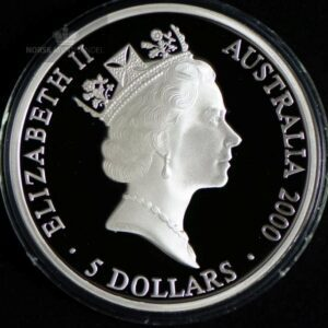 "2000 Australia 1 oz Sølv Sydney OL ""Sea Change 2"" Proof"