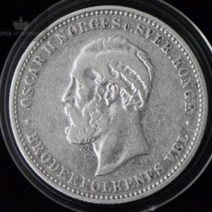 """2 Kroner 1902 Kv 1 M/Myntkapsel """"Renset"""""""