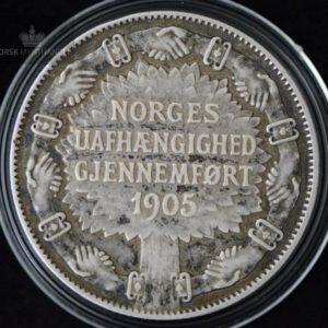 2 Kroner 1907 Unionsoppløsningen Kv 1 M/Kapsel #2