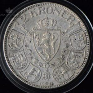 2 Kroner 1913 Kv 1 M/Kapsel #4