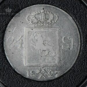 1827 Norge 24 Skilling Kv 1 M/Myntkapsel