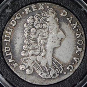 1716 Norge 1 Mark/16 Skilling Kv 1+ M/Kapsel