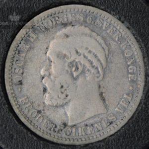 1898 50 Øre Kv 1- M/Myntkapsel #3