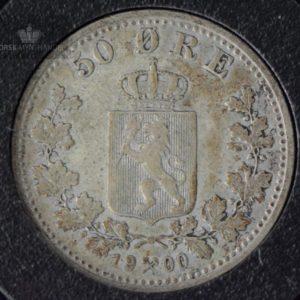 1900 50 Øre Kv 1 M/Myntkapsel #1