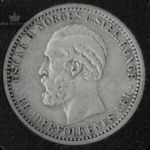 1902 50 Øre Kv 1 M/Myntkapsel #1