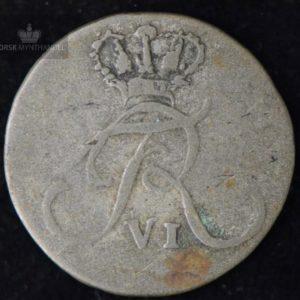 1809 Norge 4 Skilling Kv 1 M/Myntkapsel #2