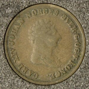 1842 Norge 4 Skilling Kv 1 M/Myntkapsel