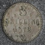 1872 Norge 3 Skilling
