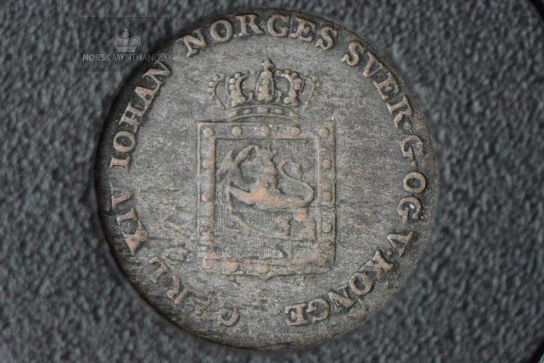 1825 Norge 2 Skilling Kv 1 M/Myntkapsel