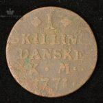 1771 Norge 1 Skilling Kv 1-/2