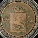1819 Norge 1 Skilling Kv 1- M/Myntkapsel
