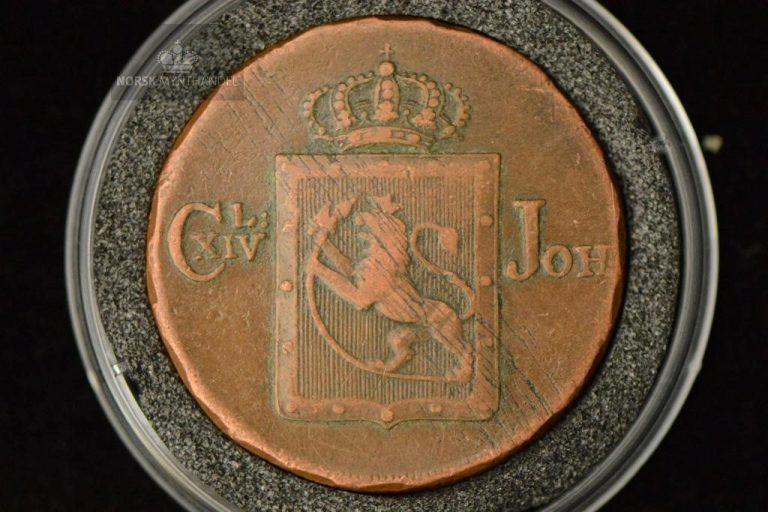 1820 Norge 1 Skilling Kv 1 M/Myntkapsel
