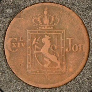 1839 Norge 1/2 Skilling Kv 1- M/Myntkapsel