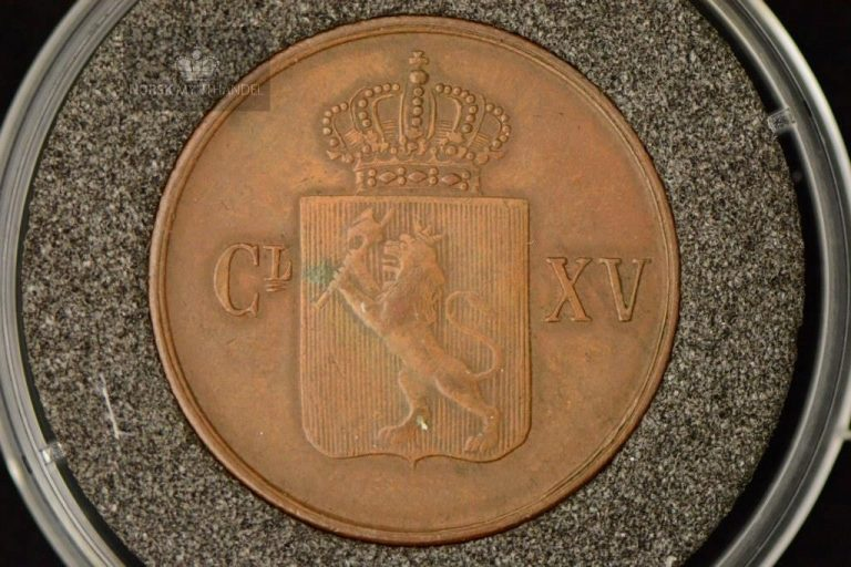 1863 Norge 1/2 Skilling Kv 1+ M/Myntkapsel