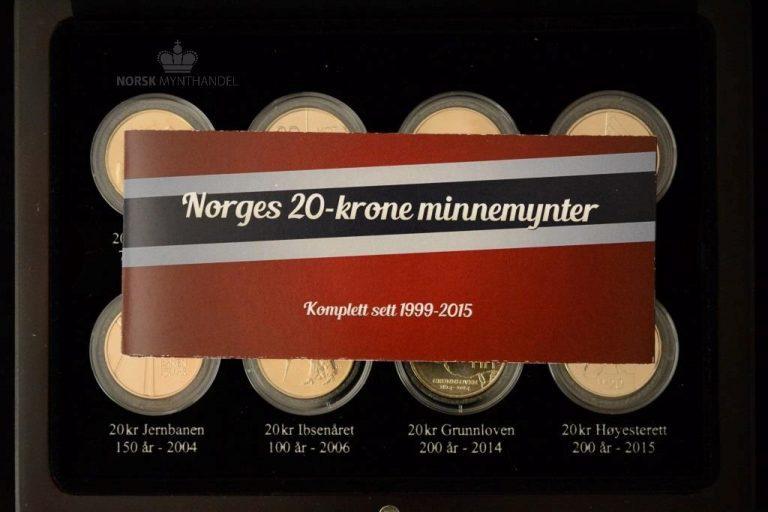 1999-2015 Sett Jubileums 20 Kroner UNC