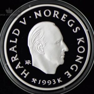 """1993 100 Kroner Lillehammer 94 """"Kunstløper"""" Proof U/Etui"""