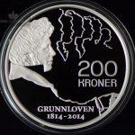2014 200 Kroner Sølvmynt