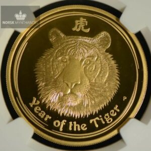 2010 Australia 1 oz Gull Lunar Tiger Proof NGC PF69 Ultra Cameo