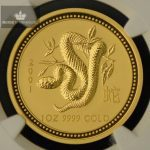 2001 Australia 1 oz Gull Lunar Year of the Snake NGC MS70